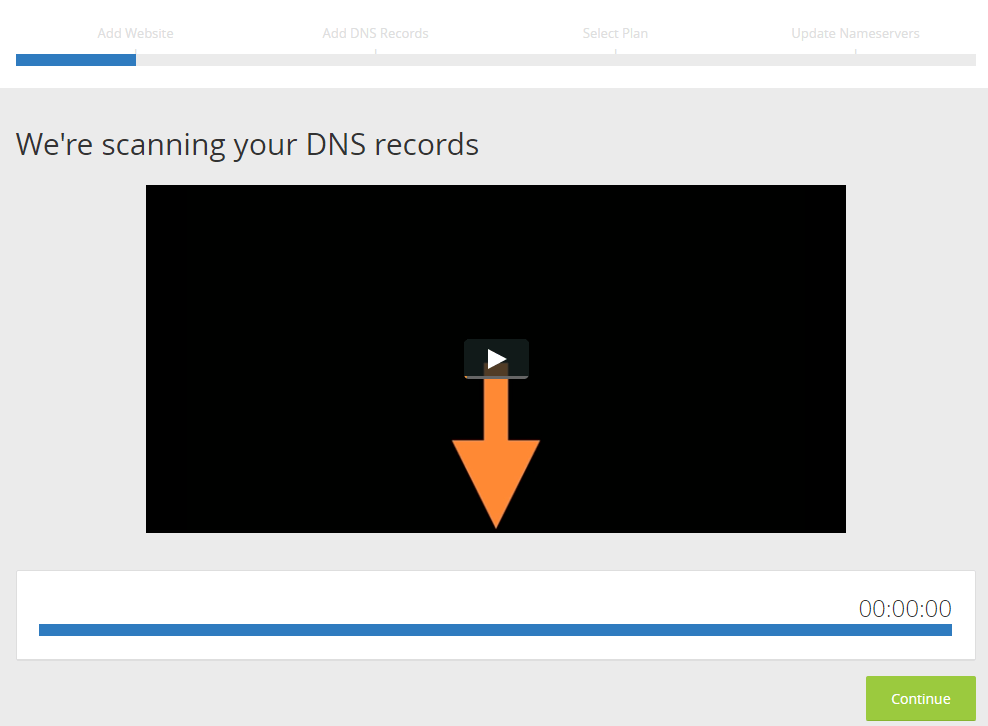 DNS records being scanned
